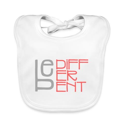 Be different - Fun Spruch Statement Sprüche Design - Baby Bio-Lätzchen