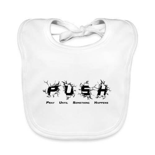 PUSH Black TEE - Baby Bio-Lätzchen