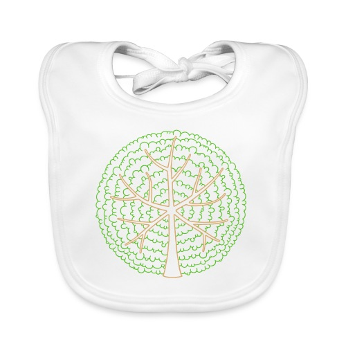 Baum, rund, grün - Baby Bio-Lätzchen