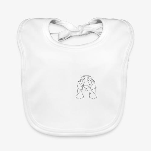 Hund Dackel geometrisch - Baby Bio-Lätzchen