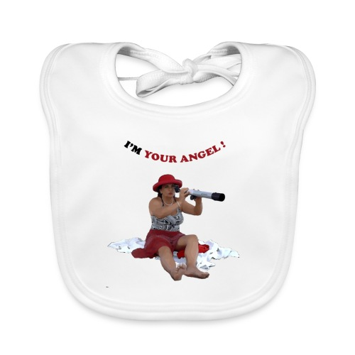 I am your angel graphic - Baby Organic Bib