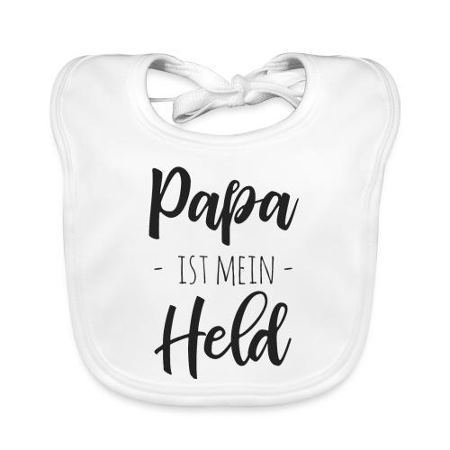 Papa ist mein Held - Baby Bio-Lätzchen
