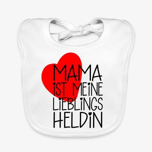 Mama Lieblings Heldin Geschenkidee - Baby Bio-Lätzchen
