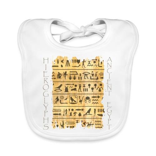 Ausgerissener Papyri mit Hieroglyphen - Baby Bio-Lätzchen
