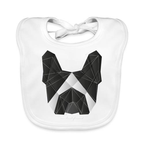 Geometric Frenchie black white - French Bulldog - Baby Bio-Lätzchen