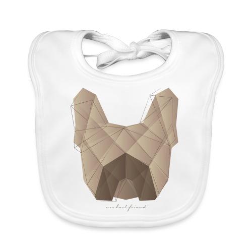 Geometric Frenchie fawn - Französische Bulldogge - Baby Bio-Lätzchen
