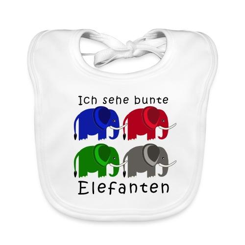 Vier Elefanten (Grafik) - Baby Bio-Lätzchen