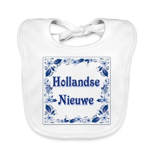 hollands nieuwe delfsblauw - Bio-slabbetje voor baby's
