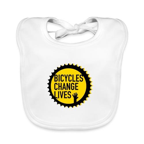 BCL Shirt Back White - Baby Organic Bib