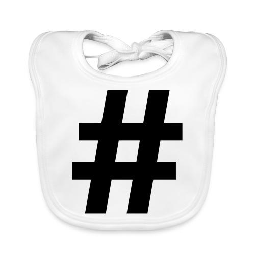 #Hashtag - Bio-slabbetje voor baby's