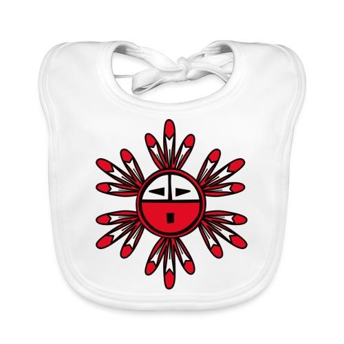 Hopi Kachina Sun Symbol - Baby Organic Bib