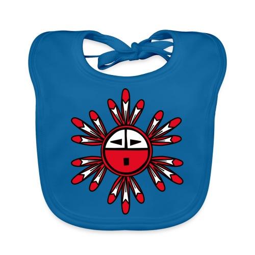 Hopi Kachina Sun Symbol - Organic Baby Bibs
