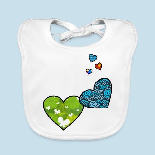 Herzchen - Baby Bio-Lätzchen