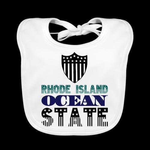 rhode island ocean state - Organic Baby Bibs