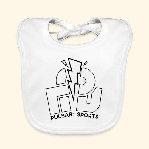 Lightning Striking through Team-Pulsar logo - Organic Baby Bibs