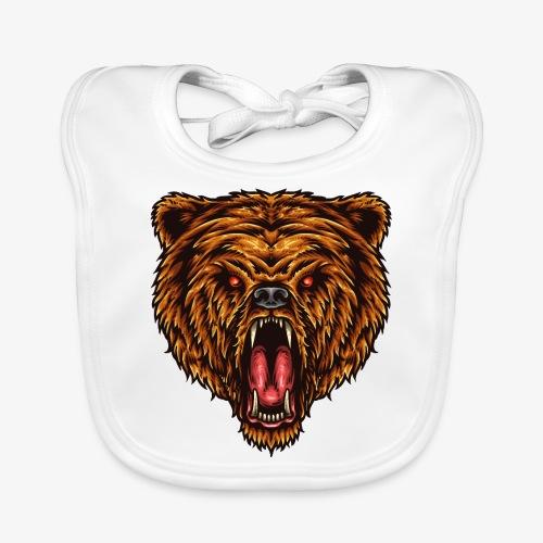 Le grand pouvoir de l'ours - Bavoir bio Bébé