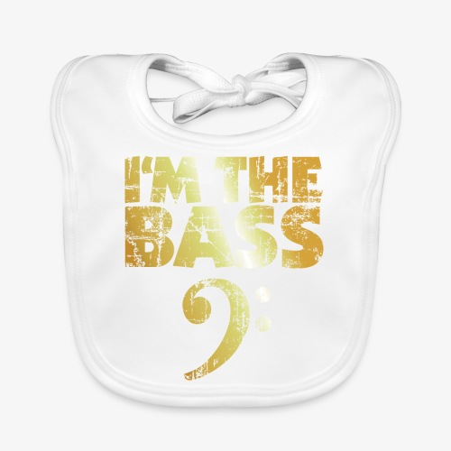 I'm the Bass (Goldgelb) - Baby Bio-Lätzchen