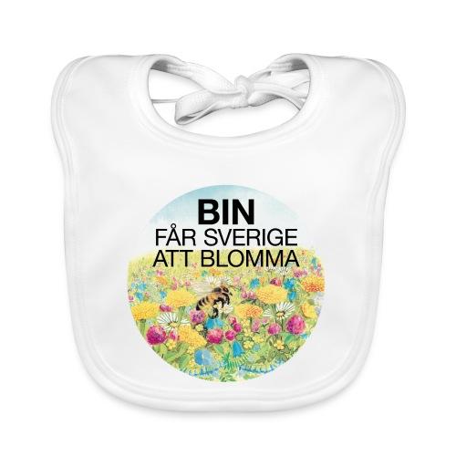 Bin får Sverige att blomma - Ekologisk babyhaklapp