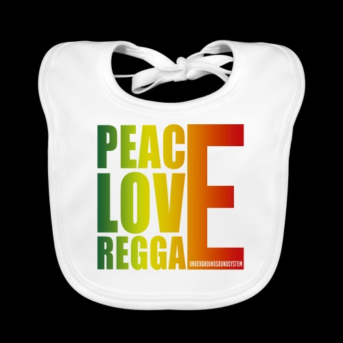 PEACE LOVE REGGAE - Baby Bio-Lätzchen