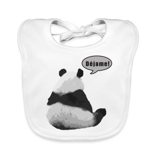 Panda Dejame - Babero de algodón orgánico para bebés