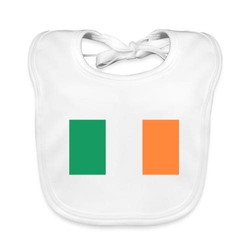 Bandera de Irlanda - Babero de algodón orgánico para bebés