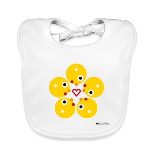 WIO LOVE - Babero de algodón orgánico para bebés