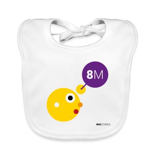 WIO 8M - Babero de algodón orgánico para bebés