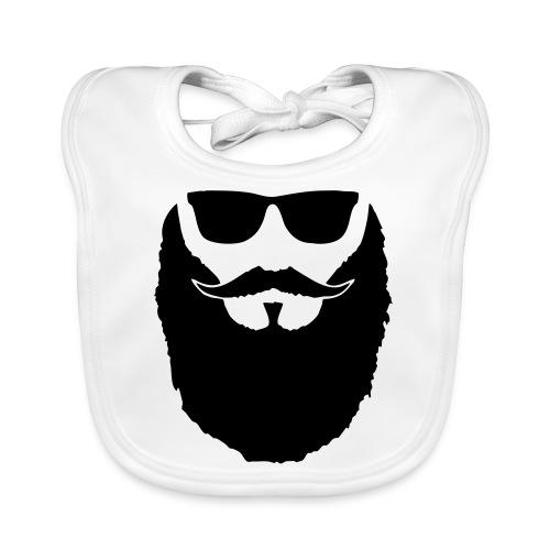 Hipster beard glasses - Bavoir bio Bébé