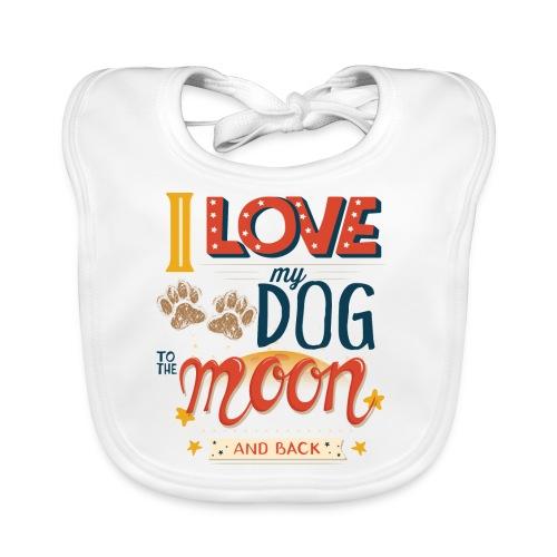 Moon Dog Light - Ekologisk babyhaklapp