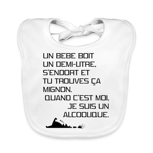 Alcoolique - Bavoir bio Bébé