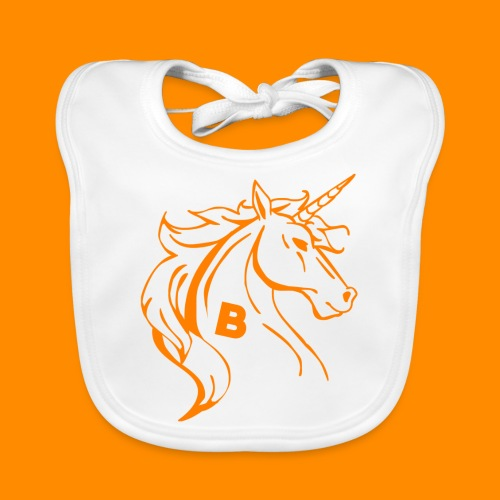 orange biodusty unicorn shirt - Bio-slabbetje voor baby's