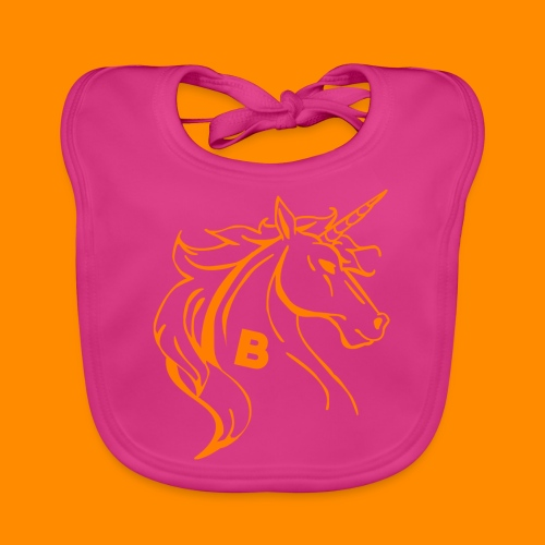 orange biodusty unicorn shirt - Bio-slabbetje voor baby's