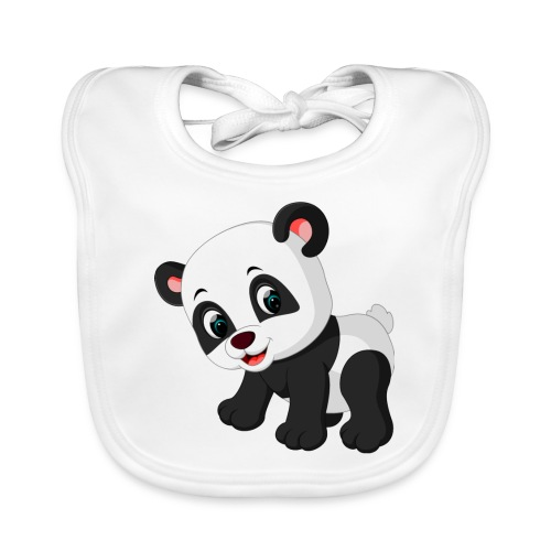 Panda Mignon - Bavoir bio Bébé