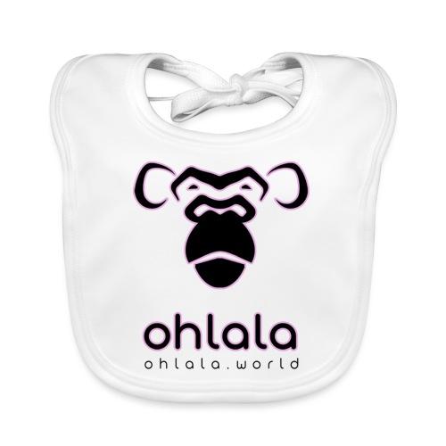 Ohlala Black & Pink - Bavoir bio Bébé