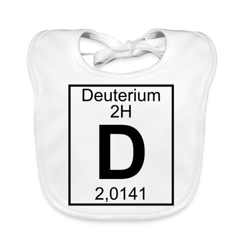 D (Deuterium) - Element 2H - pfll - Baby Organic Bib
