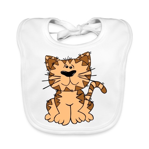 Süße - Katze shirt - Baby Bio-Lätzchen