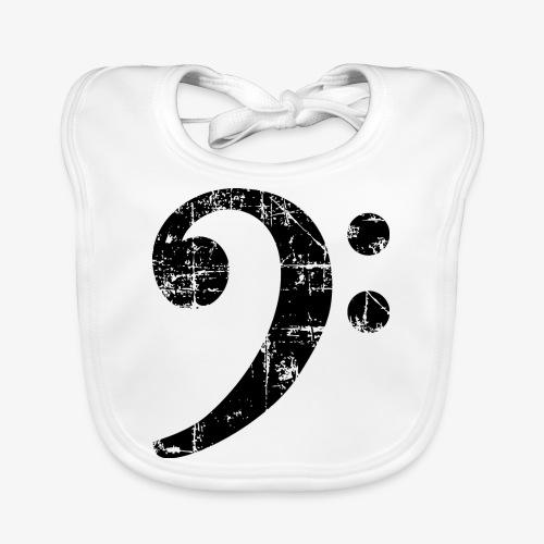 Bassschlüssel Vintage Bassisten Design - Baby Bio-Lätzchen