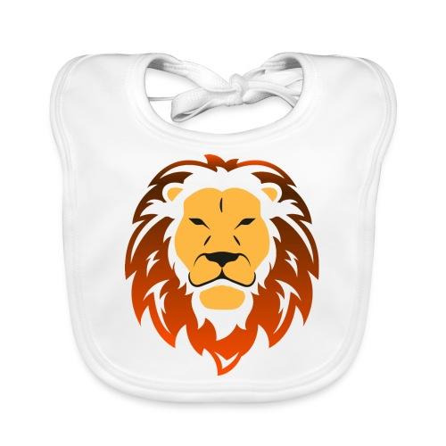 Lion orange - Bavoir bio Bébé