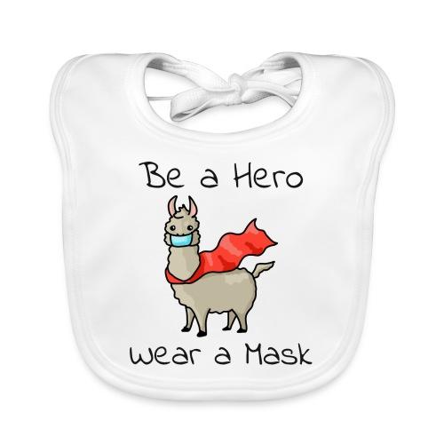 Sei ein Held, trag eine Maske! - Baby Bio-Lätzchen