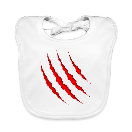 Marca de herida superficial - Babero de algodón orgánico para bebés