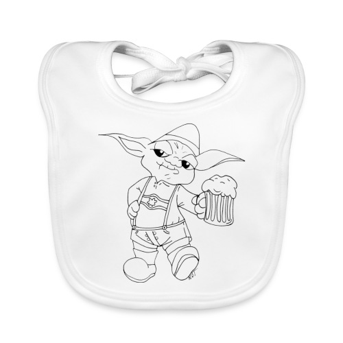Yoda Lederhose - Baby Bio-Lätzchen