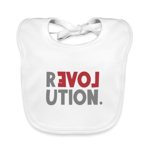 Revolution Love Sprüche Statement be different - Baby Bio-Lätzchen