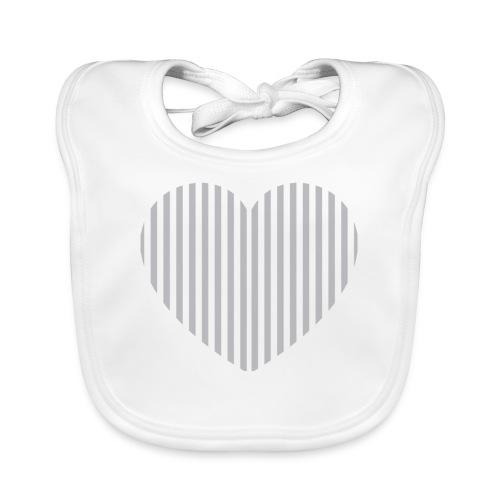 heart_striped.png - Baby Organic Bib