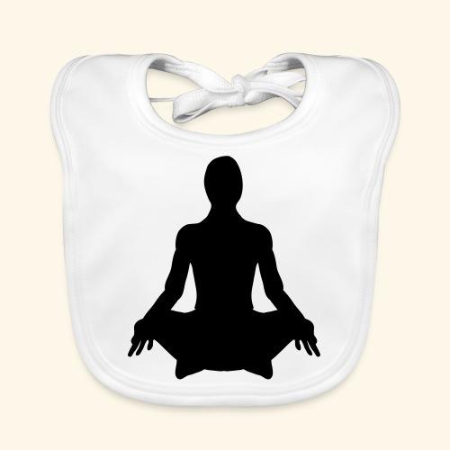 méditation position lotus - Bavoir bio Bébé