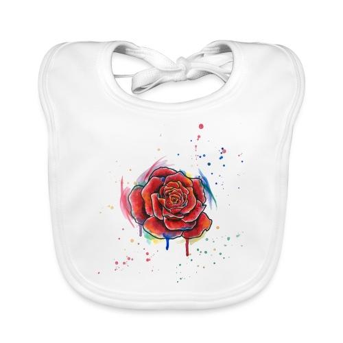Rose Watercolors Nadia Luongo - Bavaglino ecologico per neonato