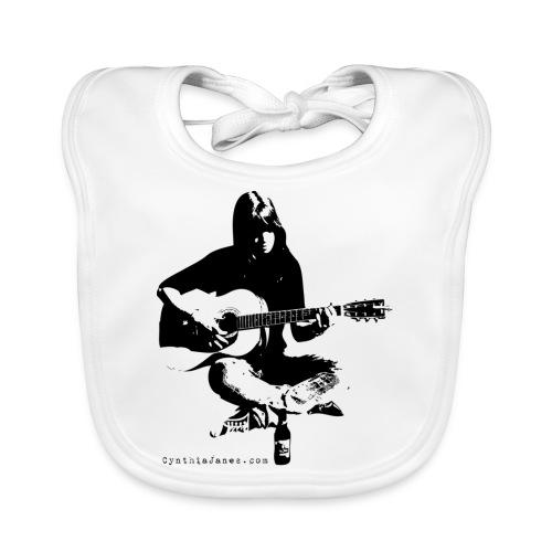 Cynthia Janes guitar BLACK - Baby Organic Bib