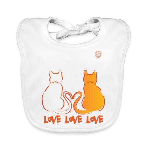 The Red Twins LOVE LOVE LOVE - Bavaglino ecologico per neonato