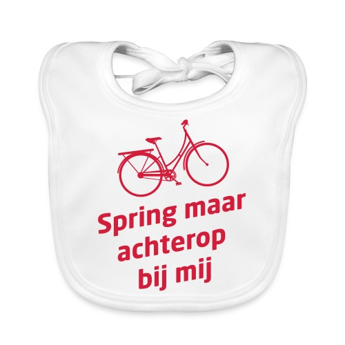 fiets achterkant - Bio-slabbetje voor baby's