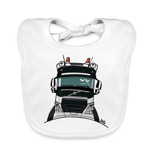 0488 V truck wit - Bio-slabbetje voor baby's