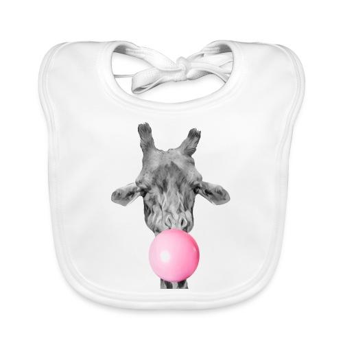 Giraffe bubblegum - Baby Organic Bib